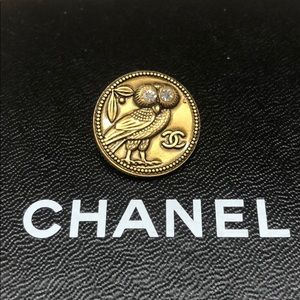 Authentic Chanel Owl Button